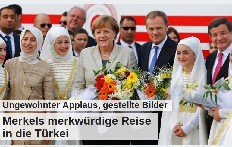 Merkel gestellte Bilder